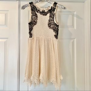 Free People Sleeveless Lace Fit and Flare Dress XS